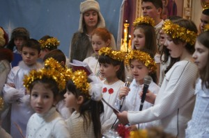 Рождественское выступление детей на Свято-Амвросиевском приходе