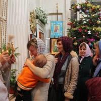 Богослужение в день Крещения Господня на Свято-Амвросиевском приходе