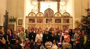Праздничное выступление молодежи Свято-Амвросиевского прихода