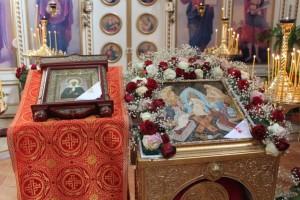 Богослужение в праздник блаженной Матроны Московской